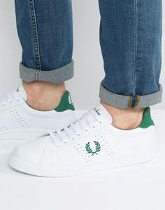 Кожаные кроссовки Fred Perry B721 - Белый