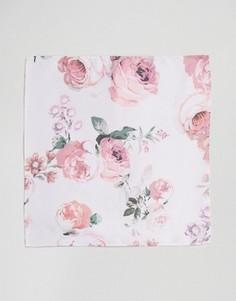 Платок для пиджака с розами ASOS - Розовый