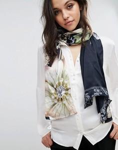 Длинный шарф с декорированным цветочным принтом Ted Baker - Мульти