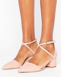 Туфли из двух частей на среднем каблуке Miss KG Ava - Бежевый