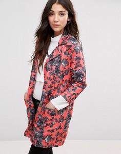 Куртка-кимоно с цветочным принтом Girls On Film - Розовый