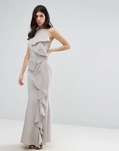 Платье макси с оборкой Missguided - Серый