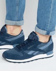 Кожаные кроссовки Reebok Classic Clip Ele - Темно-синий