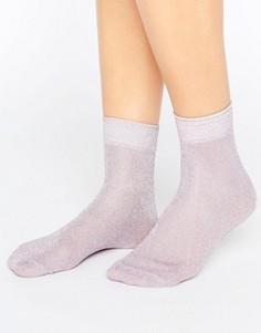 Пастельные носки с блестками ASOS - Розовый