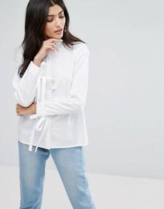 Свободная рубашка с завязками на манжетах Daisy Street - Белый