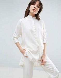 Рубашка-туника асимметричной длины Waven Agnes - Кремовый