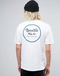 Футболка с принтом на спине Brixton - Белый