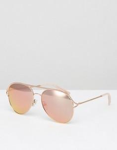 Солнцезащитные очки-авиаторы цвета розового золота Marc Jacobs - Золотой