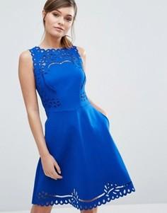 Короткое приталенное платье Ted Baker Verony - Синий