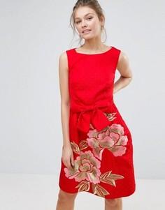 Цельнокройное платье Ted Baker Deemey - Оранжевый