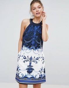 Цельнокройное платье Ted Baker Molliat - Синий