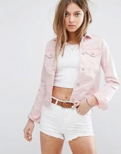 Джинсовая куртка Hollister - Розовый