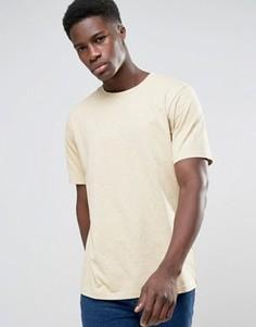 Окрашенная футболка Weekday Frank - Желтый