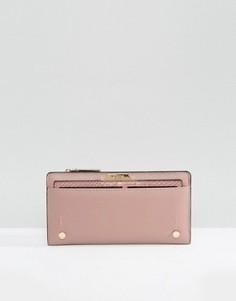 Узкий кошелек со съемным отделением для карт Dune - Розовый