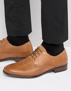 Светло-коричневые кожаные строгие туфли на шнуровке Red Tape - Рыжий