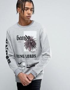 Свитер с принтом Bando Young Lords - Серый