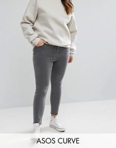 Серые джинсы скинни с завышенной талией ASOS CURVE RIDLEY - Черный