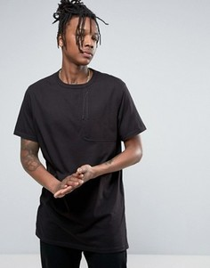Maharishi T-Shirt In Black With Large Pocket - Черный