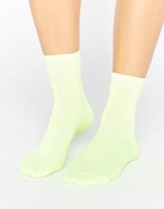Неоновые носки ASOS - Желтый