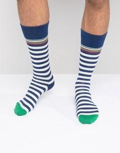 Классические носки в сине-белую полоску Paul Smith - Синий