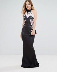 Платье макси с цветочным принтом и подолом-годе Jessica Wright - Мульти