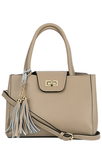 Кожаная сумка с кистями La Reine Blanche