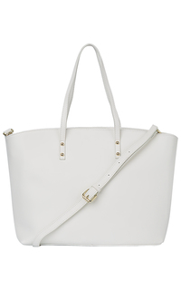Белая кожаная сумка La Reine Blanche