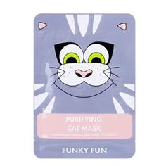 """ЛЭТУАЛЬ Очищающая маска для лица """"Кошка"""" Funky Fun 1 шт."""