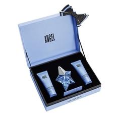 MUGLER Подарочный набор Angel Парфюмерная вода 25 мл (заправляемый флакон) + Лосьон для тела 50 мл + Гель для душа 50 мл