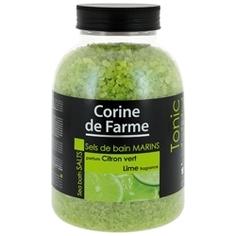 CORINE DE FARME Соли морские для ванн Лайм 1,3 кг