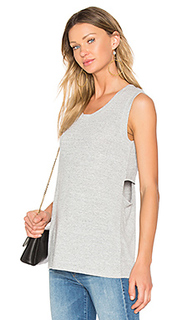 Faded crew neck tank - Bobi