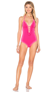 Lattice ruffle one piece - Shoshanna