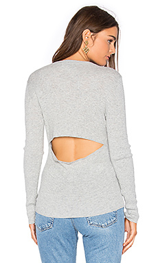 Casia slit back top - 360 Sweater