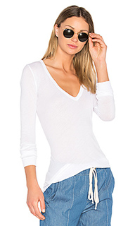 V neck long sleeve top - Enza Costa