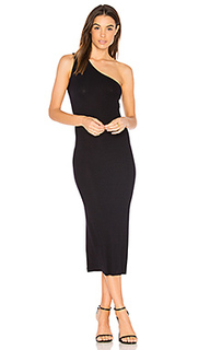 Rib one shoulder midi dress - Enza Costa