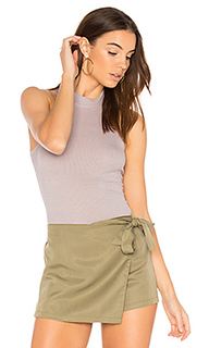 Rib mock neck tank - Enza Costa