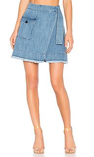 Denim wrap mini skirt - ei8ht dreams