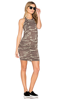 Neutral camo shirred dress - MONROW