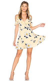 Flower print cold shoulder flare dress - J.O.A.