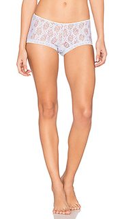 Stretch lace ruched back hipster - Only Hearts