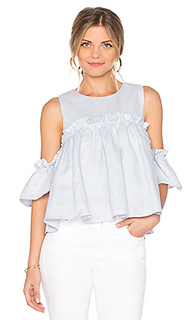 Layered ruffle cold shoulder top - J.O.A.