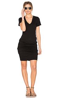Платье с вырезом v - MONROW