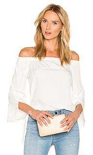 Off shoulder slit sleeve top - Halston Heritage