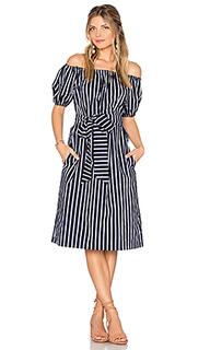 Stripe off the shoulder dress - J.O.A.