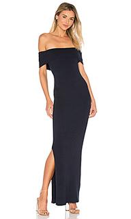 Макси платье с открытыми плечами - 525 america