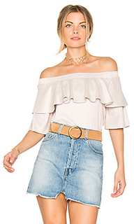 Suede ruffle top - David Lerner