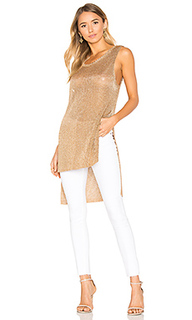 Metallic knit tunic tank - MINKPINK