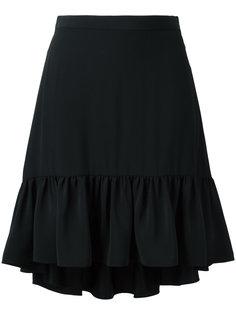 юбка с расклешенным подолом Saint Laurent