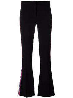 брюки с полосками и отделкой Greek Key Versace