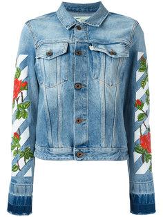 джинсовая куртка с вышивкой роз Off-White